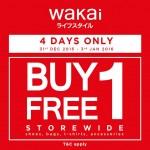 Wakai malaysia outlet storewide buy 1 free 1 promotion!