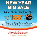 AirAsiaGo: Return Flights + 2N Hotel Stay + Tax to Bangkok, Shanghai, Osaka, Gold Coast and more from only RM168!