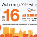 FireFly 2016 Promotion: Flight to ALL Destinations from only RM16!