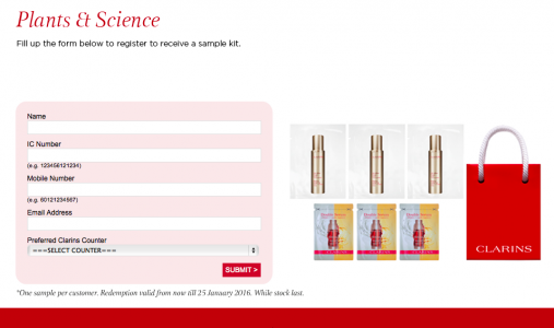 Clarins Plant & Science