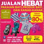 Sweet Heart Paris Warehouse Sale: Enjoy Discount up to 80% for Baby Products, Apparels