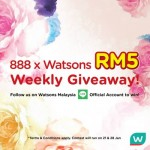 Watsons Voucher Weekly Giveaway!