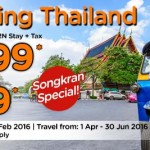 Air Asia Go Thailand Package Promotion: Return Flights + 2N Stay + Tax from only RM399!