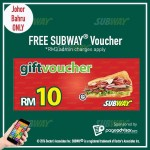 Subway Malaysia Voucher Giveaway