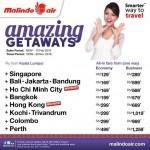 Malindo Air: Fly to Singapore, Bali, Bangkok, Hong Kong, Perth from only RM129!