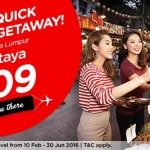 Air Asia Fly to Pattaya from only RM109!