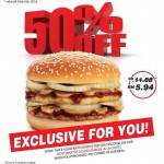 A&W Most Wanted Golden Burger at 50% Discount!