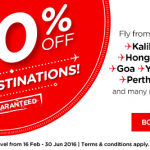 Air Asia 20% Off for ALL Destinations