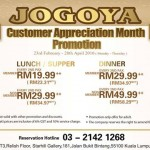 Jogoya:  Enjoy Lunch, Dinner or Supper Buffet from only RM19.99