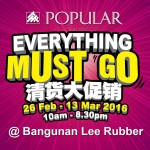 Popular Book Fair, Everything Must Go, Discount Up To 90%!
