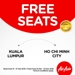 Air Asia FREE Seats to Ho Chi Minh City Promotion