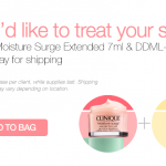 Clinique DDML and Moisture Surge Extended FREE Sample Giveaway