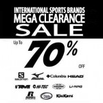 International Sports Brands Mega Clearance Sale: Enjoy Discount up to 70%!