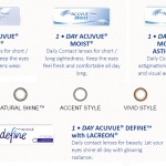 Acuvue Daily Contact Lens FREE Sample Giveaway