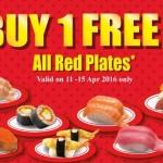 SAKAE Sushi Buy 1 FREE 1 Promotion!