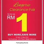 Sorella Lingerie Clearance Fair: Price from only RM1