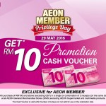 AEON Member Day FREE Cash Voucher Giveaway 2016