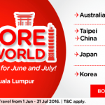 Air Asia Promo: Fly to Australia, Taipei, China, Japan and Korea from only RM199