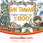 AirAsiaGo Taiwan Promo: Flights + 3N Stay + Tax for only RM800!