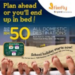 Firefly ALL Domestic Destinations Flight from only RM50