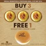 Mr. Chizu's Hanjuku Cheese Tart Buy 3 FREE 1 Cheese Cake Promotion