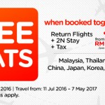 AirAsiaGo FREE Seats to Thailand, Cambodia, China, Japan, Korea, Australia and more!