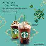 Starbucks Chocolate Black Tea with Earl Grey Jelly and Double Chocolate Green Tea Buy 1 FREE  1 Promotion