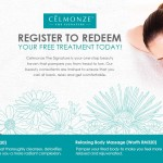 Celmonze Beauty Treatment (Detoxifying Facial or Relaxing Body Massage) Giveaway