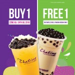 Chatime Buy 1 FREE 1 Promotion