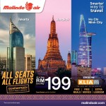 Malindo Air Promotion: Fly to Bangkok, Jakarta, Ho Chi Minh City from only RM199, ALL Seats, ALL Flights