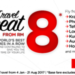 AirAsia Fly to Krabi, Phuket, Tehran, Lombok, Kunming, Auckland, Ho Chi Minh City from only RM8!