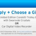 Citibank Credit Card Promo: FREE Condotti Trolley Bag OR Car Digital Video Recorder Giveaway