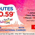 Air Asia Flights from only RM0.59!