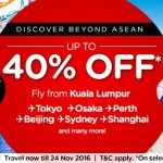 Air Asia: Flight to Tokyo, Osaka, Perth, Beijing, Sydney, Shanghai at 40% Discount!