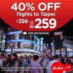 Air Asia Taipei Promotion: Fly from only RM259!
