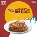 Kenny Rogers Roasters Quarter Chicken for only RM1 Promotion