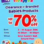 TOYS R US Branded Babies Products Clearance Sale