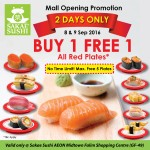 Sakae Sushi Buy 1 FREE 1 Promotion with NO Time Limit