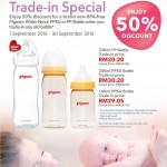Pigeon Wide-Neck PPSU Bottle or PP Bottle at 50% Discount