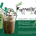 Starbucks Frappuccino RM1 Promotion