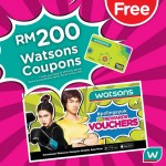 Watsons Coupon worth RM200 Giveaway