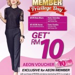 AEON Cash Voucher Giveaway at ALL Stores