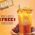 The Coffee Bean & Tea Leaf Blood Orange Beverage Series Buy 1 FREE 1 Promo