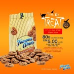 Famous Amos Cookies (80g) for Only RM5 at ALL outlets!