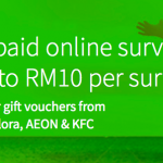 Complete Online Surveys and Get Rewarded 完成问卷,换取现金卷!
