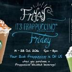 Starbucks Frappuccino Buy 1 FREE 1 Promo
