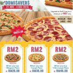 Domino's Regular Pizza for only RM2 Promotion