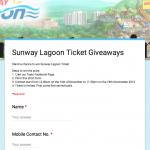 Sunway Lagoon Ticket Giveaway