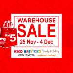 KIKO, Trudy & Teddy Warehouse Sale: Price from only RM5