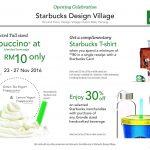 Starbucks Design Village Penang Special Promotion